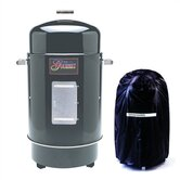 Gourmet Charcoal Smoker &amp; Grill with Vinyl Cover
