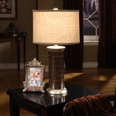 Table Lamp with Drum Shade