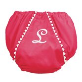 Garden Princess Pique Diaper Cover in Hot Pink with White Trim