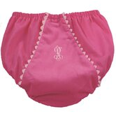 Bon Bon Corduroy Diaper Cover in Hot Pink with Light Pink Trim