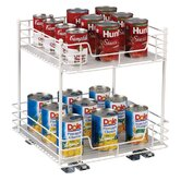"Glidez 15"" Two Tier Pantry Organizer"