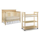 Lauren Classic Two Piece Convertible Crib Set in Natural