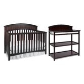 Charleston Classic Two Piece Convertible Crib Set in Cherry