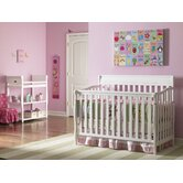 Stanton Two Piece Convertible Crib Set in Classic White