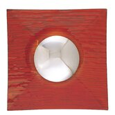 "10.5"" Wall Sconce in Chrome with Red Glass"