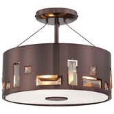 Bling Bang 3 Light Semi Flush Mount