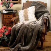 Chinchilla Faux Fur Throw Blanket and Pillow Set