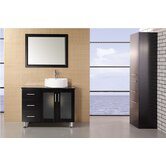 "Malibu 36"" Single Sink Modern Bathroom Vanity"