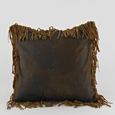Eagle River Pinto Tobacco Fringed Pillow