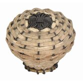 1.5&quot; Small Bamboo Weave Knob