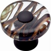 Glass Milky Way Round Knob