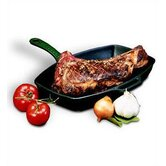 "Cast Iron 12.5"" Grill Pan"