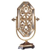 Jessica McClintock Romance Accent Mirror in Tuscan Gold with Mirror Accents