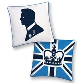 Prince Reversible Pillow in White and Blue