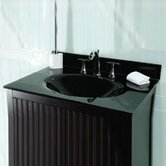 "31"", 37"" or 49""  Black Glass Vanity Top with Sink and Optional Side Splash"