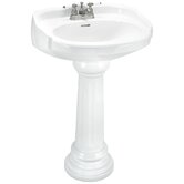 "Aberdeen Pedestal Sink Top with 8"" Centers"