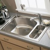 Culinaire Top Mount Dual Level kitchen sink