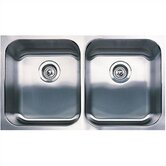 Spex Plus Equal Double Bowl Undermount Kitchen Sink