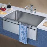 Magnum Large Single Bowl Kitchen Sink with Apron and Towel Bar