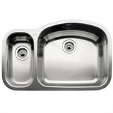 Wave 1 1/2 Reverse Bowl Undermount Kitchen Sink