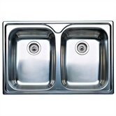 Supreme 2 Equal Double Bowl Drop-In Kitchen Sink