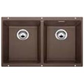 Precis Double Bowl Undermount Kitchen Sink in Cafe Brown