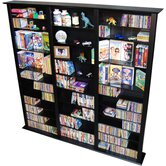 VHZ Entertainment Large Triple Multimedia Storage Rack