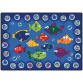 Literacy Fishing Kids Rug