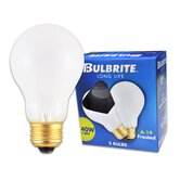 40W Long Life General Service Standard A19 Incandescent Bulb in Frost (Pack of 2)