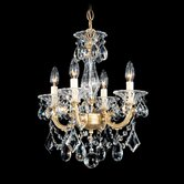 La Scala 4 Light Convertible Chandelier