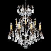 Renaissance Rock Crystal 13 Light Chandelier
