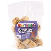 Pet Time Rawhide Knotted Bones Dog Treat
