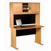 Modular Real Oak Wood Veneer 48&quot; W Panel Office Computer Desk Suite