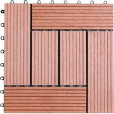 Six Piece Composite Bamboo Deck Tile