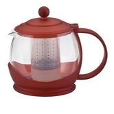 Prosperity Teapot with BPA Free Shut Off Infuser in Red