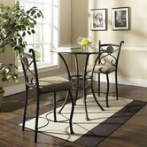Brookfield 3 Piece Counter Height Pub Table Set in Gunmetal