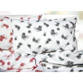 Rose Printed Extra Deep Pocket Flannel Sheet Set