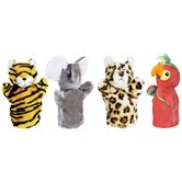 Zoo Puppet Set (Tiger, Elephant, Leopard, Parrot)