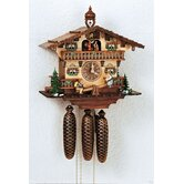 13&quot; Chalet Cuckoo Clock with Tetter-Totter and Dancing Children