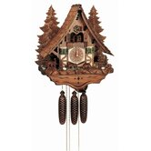18&quot; Chalet Cukoo Clock with Moving Bears, Woodchucks and Water Wheel