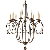 Devon 9 Light Iron Chandelier