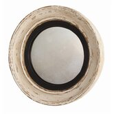 Saintes Painted Hand Carved Solid Wood Convex Mirror