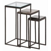 Knight Waxed Hammered 3 Piece Nesting Table