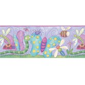 Bugs Free Style Border Wallpaper in Purple