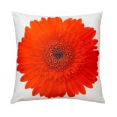 Red Gerbera Pillow