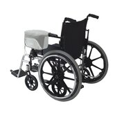 Zippidy Wheelchair Armrest Organizer in Pearl Grey and Pewter