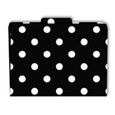File Folders Black &amp; White Dots