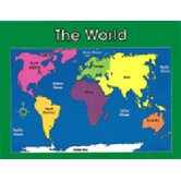 Chartlet World Map 17 X 22