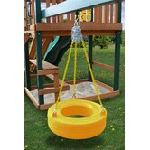 Commercial Grade Tire Swing in Yellow