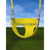 Half Bucket Swing  in Yellow